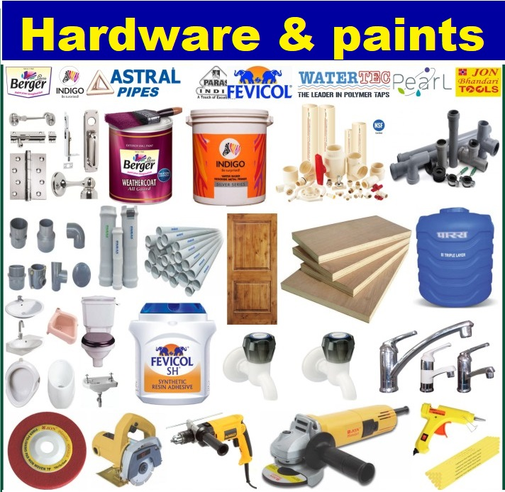 Hardware, Sanitary and Paints